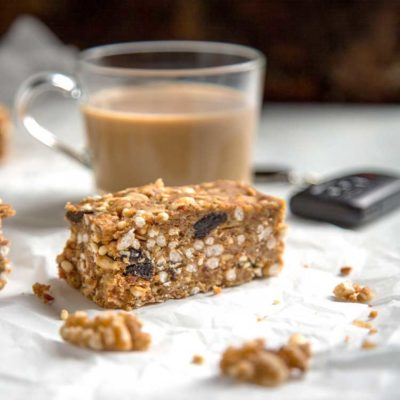 Savory Walnut Breakfast Bars