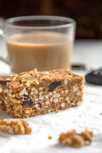 Savory Walnut Breakfast Bars