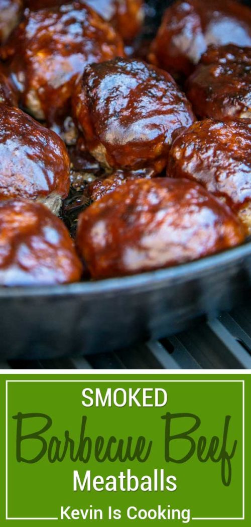 These smoked BBQ meatballs start with ground beef and onions sautéed with Worcestershire and cumin that get smothered in BBQ sauce. These are beyond tender and all made in the same pan!