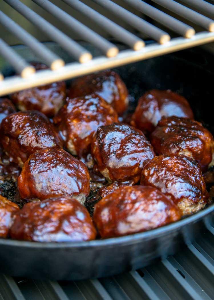 Smoked BBQ Meatballs