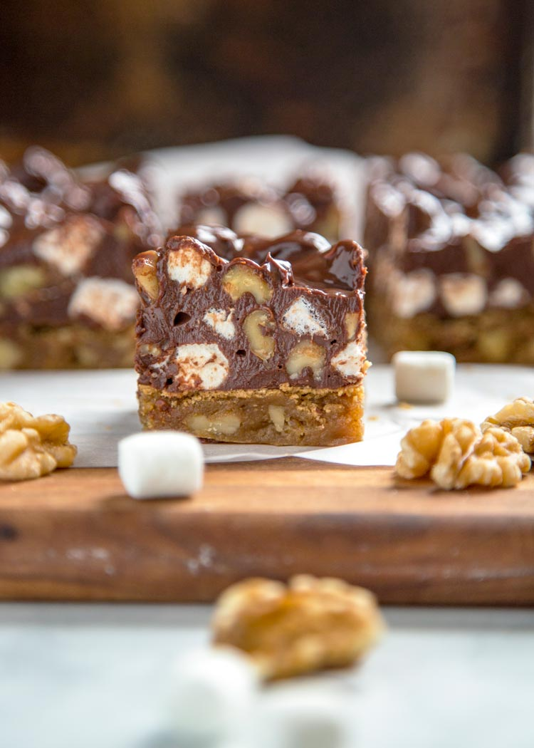 close up of a Rocky Road Blondie