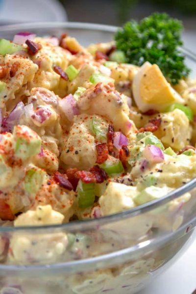Smoked Potato Salad with Bacon