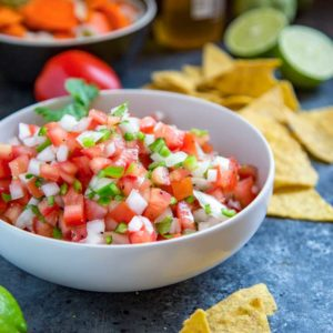 A bowl of classic pico de gallo Salsa