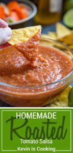 My Roasted Tomato Salsa starts with roasted, charred tomatoes, onions and jalapeõs and that's what adds that extra depth of flavor. Easy to make and so much better then store bought.