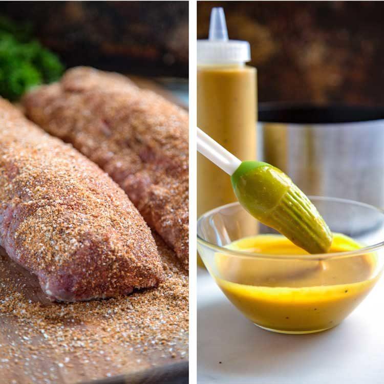 South Carolina Ribs with Mustard BBQ Sauce