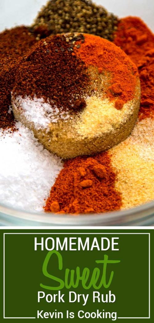 This Sweet Pork Dry Rub is balanced with sweet dark brown sugar for that kiss of molasses, and temper with garlic, onion, chili and cayenne powders. It doesn't over power to let the meat shine.