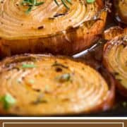 titled image of baked onion with caramelized edges
