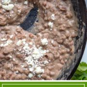 Refried beans are a staple on most Mexican lunch and dinner plates. My Authentic Refried Beans will make you realize that the canned version no longer need be on your shopping list. Easier to make than you think, and I'll share with you my secret flavor weapon, too!