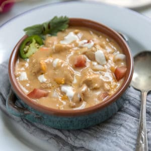 Green Chile Chicken Enchilada Soup