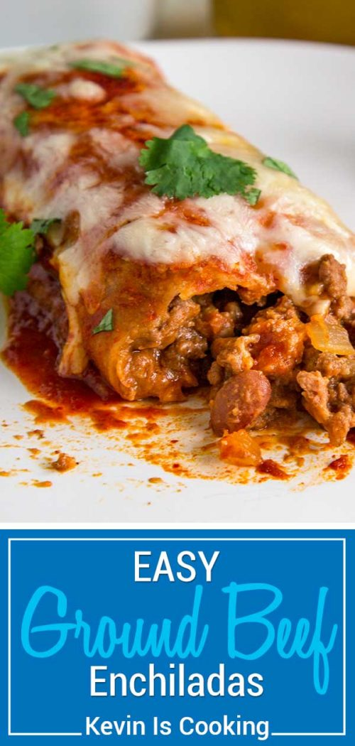 These Ground Beef Enchiladas are super easy and feed a crowd. Whether you like to use store bought ingredients or like to make from scratch, I'll show you how easy these are to make!