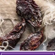 dried chipotle pepper on cloth