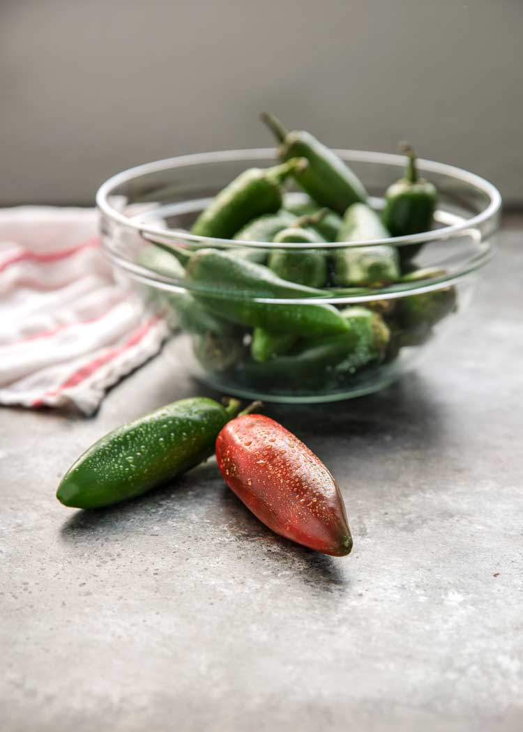 bowl of jalapenos - How to Make Dried Chipotle Chiles