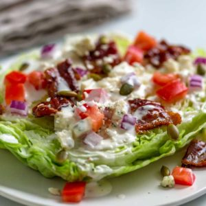 A plate of wedge salad