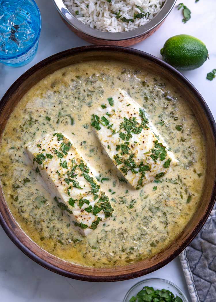 Thai Baked Halibut with Coconut Rice