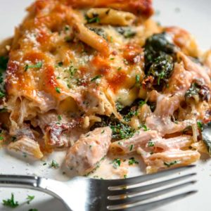 Tuscan Chicken Pasta Bake