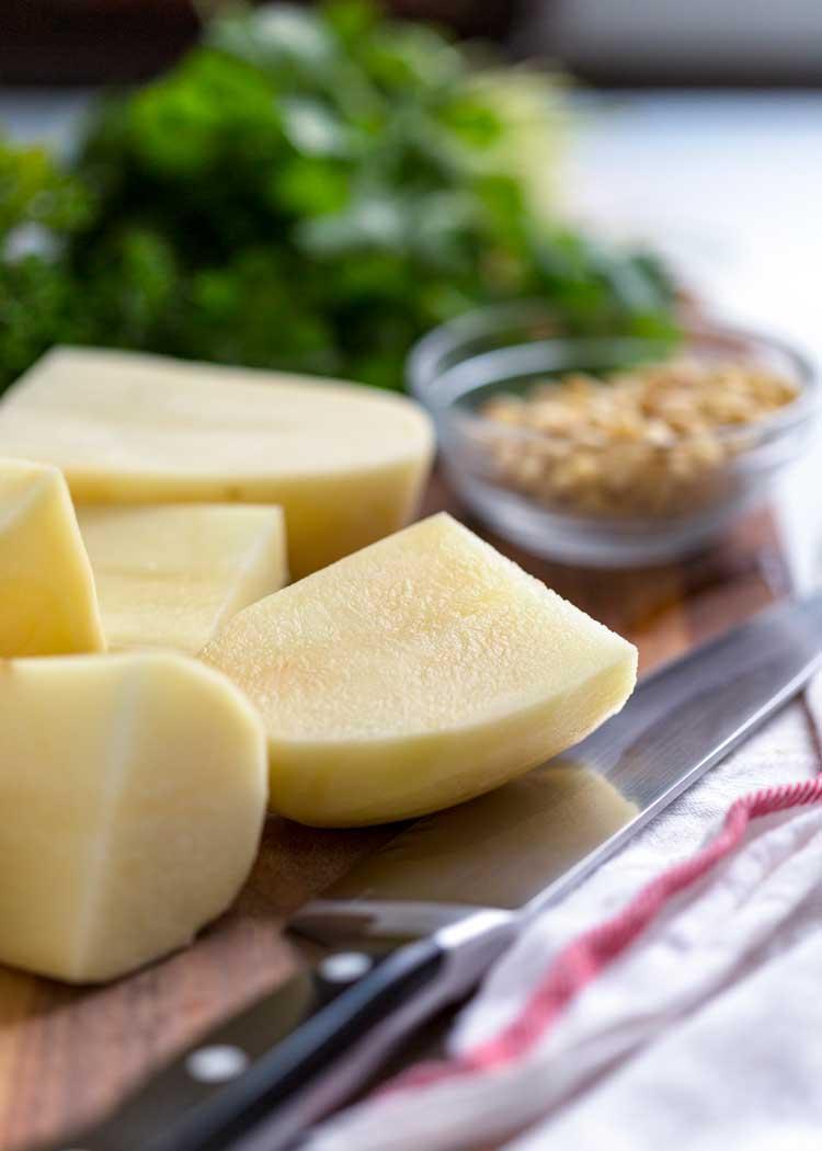 Whipped Potatoes with Cilantro Pesto