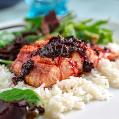 Cherry Maple Glazed Salmon