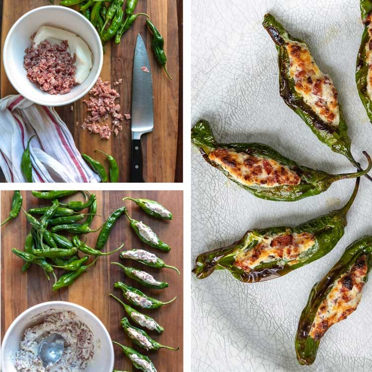 Shishito Peppers recipe - step by step prep photo of Stuffed Shishito Peppers