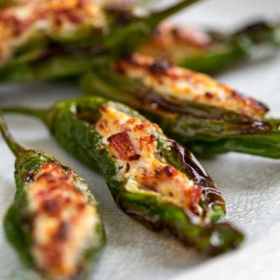 Shishito Peppers Recipe – Cream Cheese Stuffed