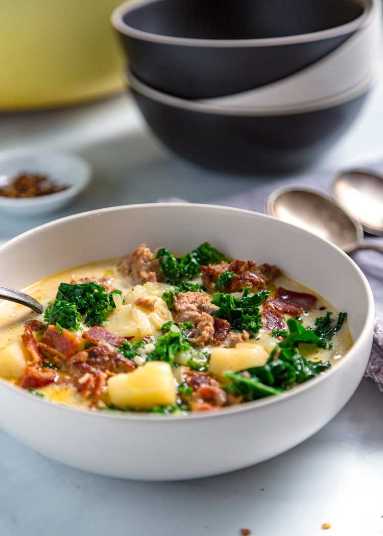 bowl of Zuppa Toscana (Olive Garden Copycat)