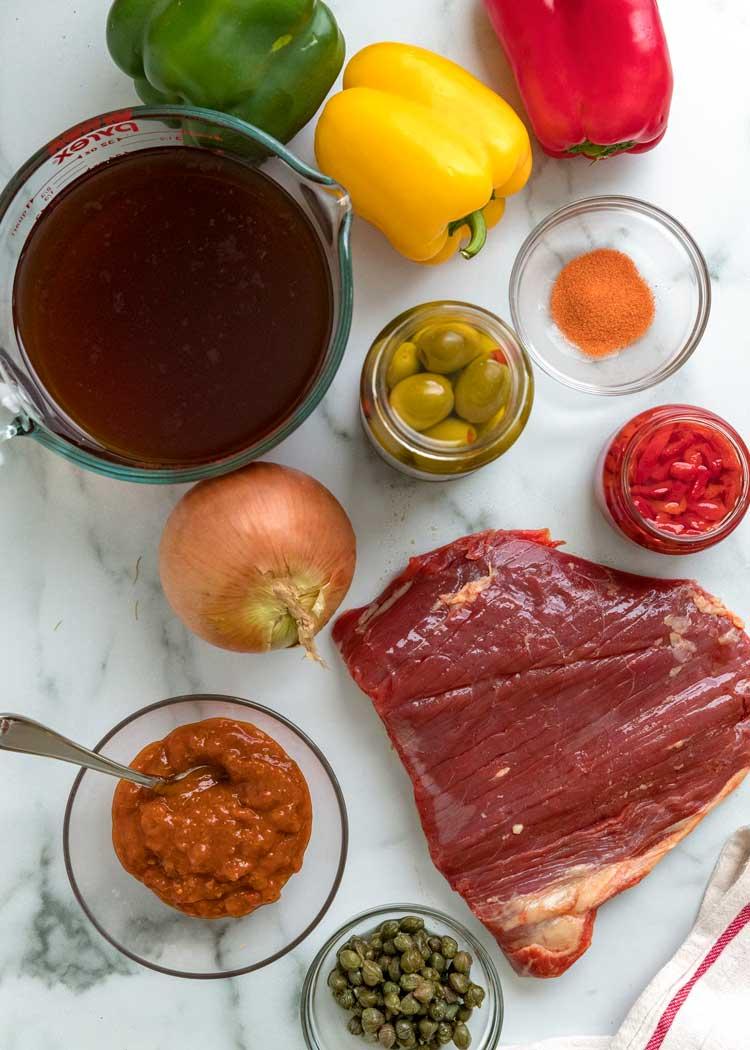 Cuban Ropa Vieja ingredients