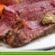 Step by step how to make corned beef. Tender, mouth watering meat with a salty sour touch punctuated by spices like dill, allspice, mustard seeds and more! #StPattysDay #cornedbeef #StPatricksDayFood