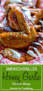 Smoked Honey Garlic Chicken Wings