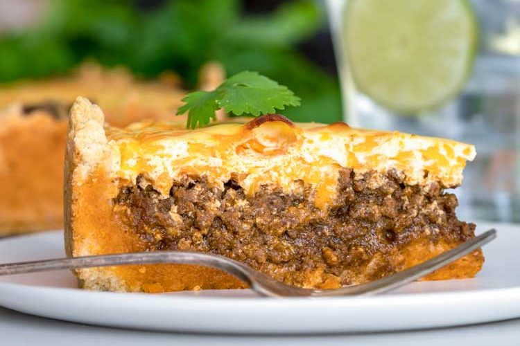 slice of Beefy Taco Pie