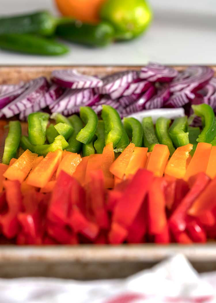 sliced colored bell peppers