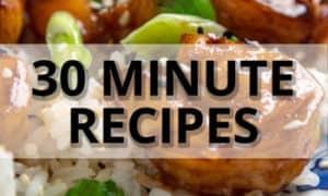 30 minutes recipe ad
