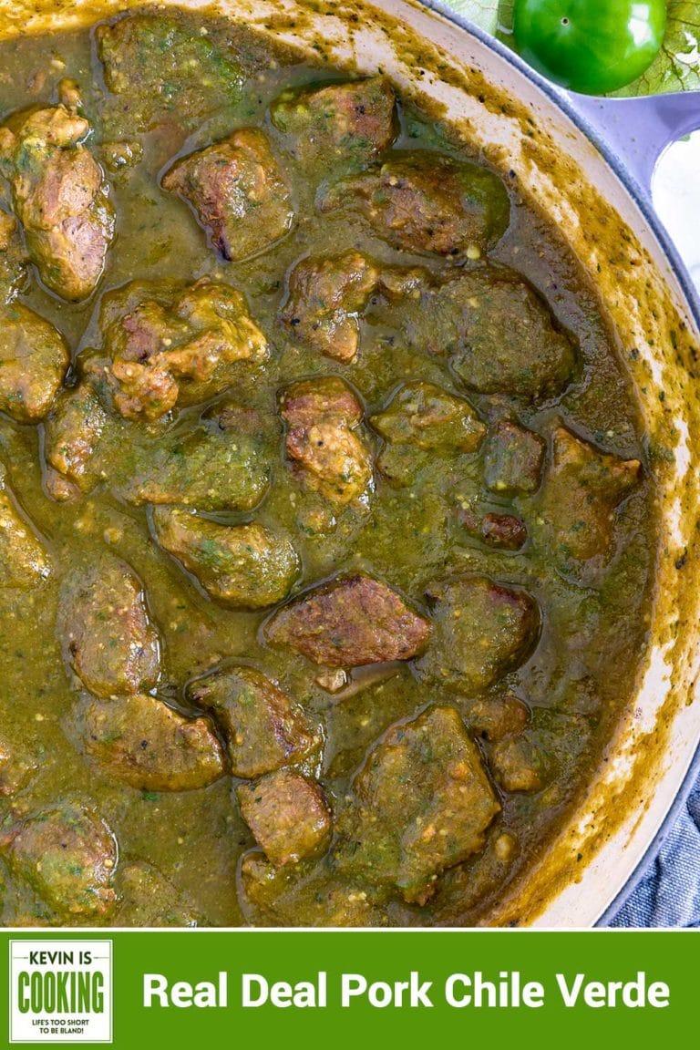 large pot of chile verde pork stew