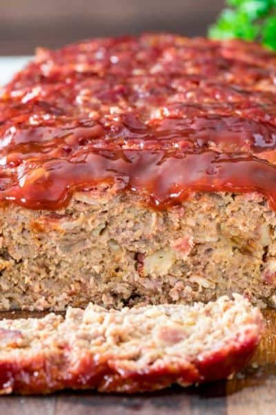 close up of BBQ Smoked Meatloaf