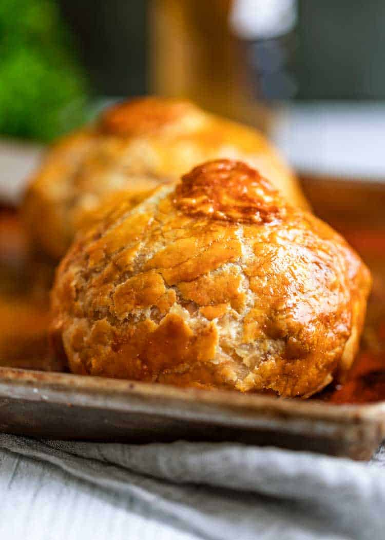 close up of Individual Beef Wellingtons