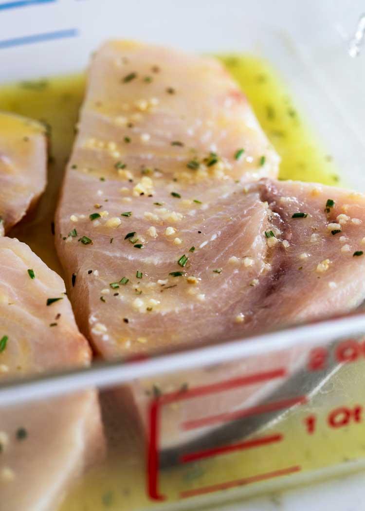 swordfish marinating