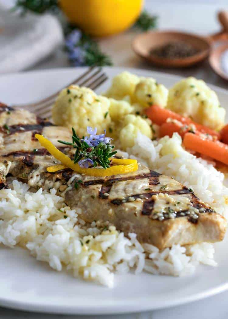 Lemon Rosemary Grilled Swordfish - Kevin Is Cooking