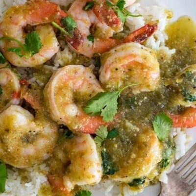 Salsa Verde Shrimp