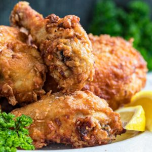 close up of The Best Southern Fried Chicken