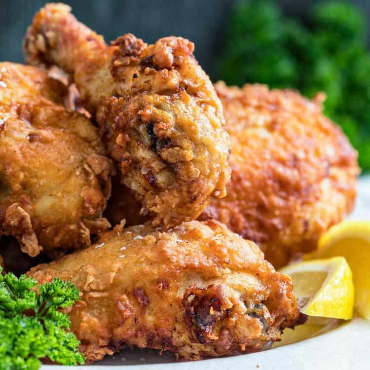 close up: 4 pieces of buttermilk fried chicken