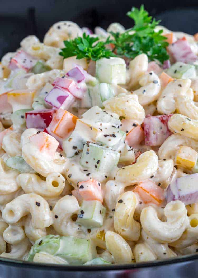 close up of Classic Macaroni Salad