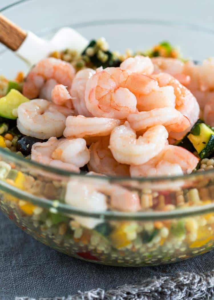 cooked shrimp in bowl