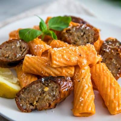 Rigatoni with Grilled Sausage