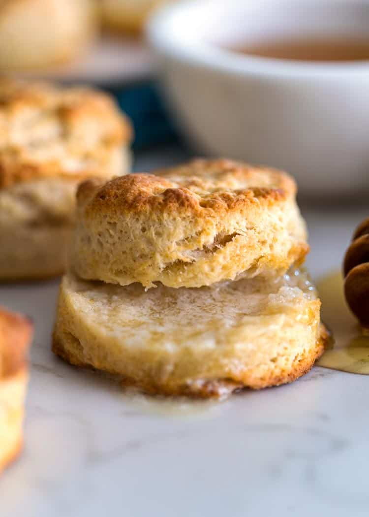 meltoing butter on prep photos how to make Southern Buttermilk Biscuits
