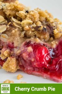 close up of Cherry Pie with Crumb Topping
