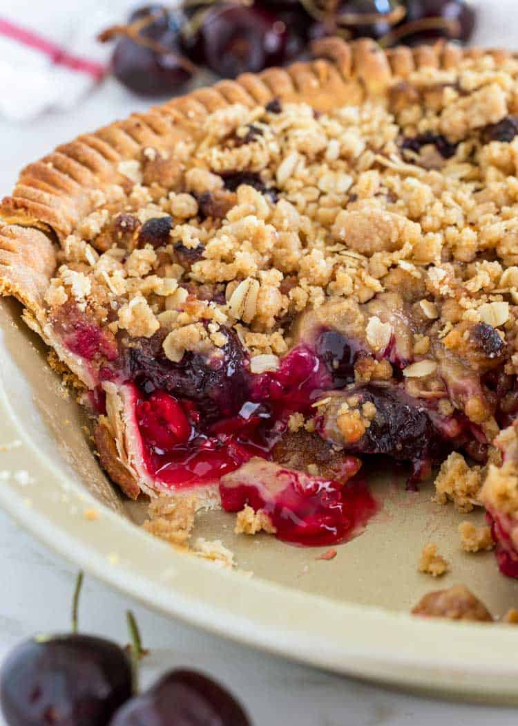 Cherry Pie With Crumble Topping recipe by Laura Kasavan ... |Cherry Pie With Crumb Topping