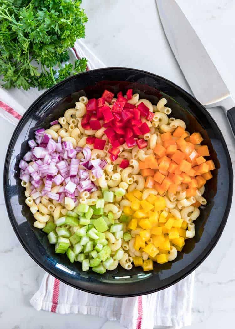 ingredients for Classic Macaroni Salad