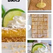 collage of prep photos for Key Lime Bars