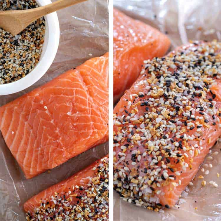 salmon filet and everything bagel seasoning