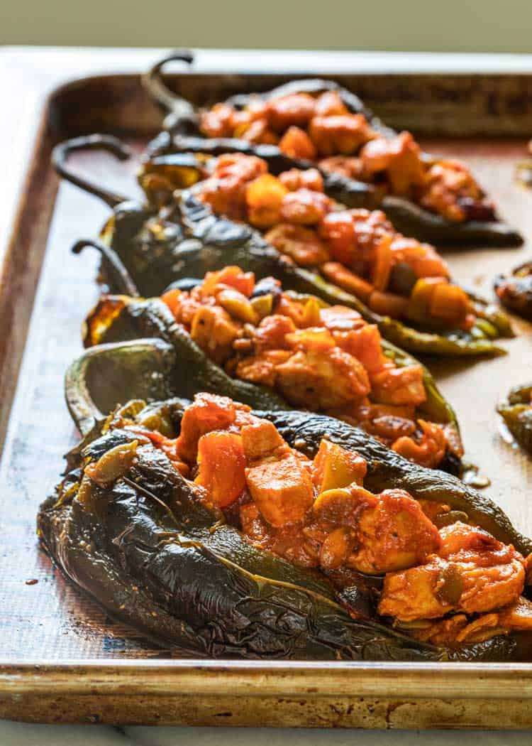 stuffed roasted chiles