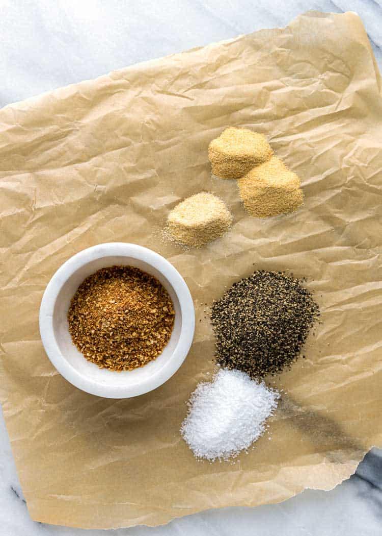overhead photo of spice to make Lemon Pepper Seasoning