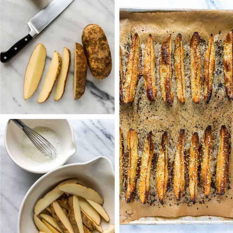 prep photos of Mom's Baked Potato Wedges